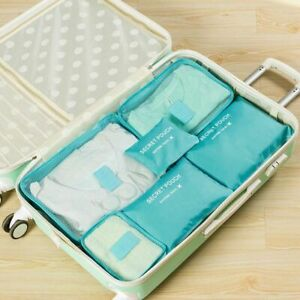 Packing Cube Travel Bag Organizers Luggage Clothing Sorting Durable Capacity TOP