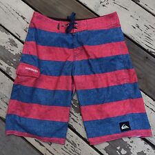 QUIKSILVER SURF • Men's Multi Color Striped Surfing Board Shorts waist size 28