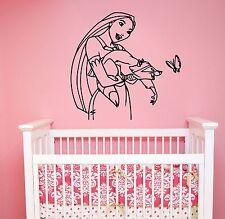 Pocahontas Wall Sticker Disney Princess Vinyl Decal Art Kids Girl Room Decor pc2