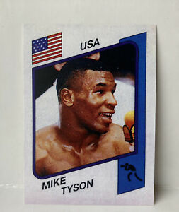Mike Tyson REPRINT Panini Supersport ROOKIE #153 1987 (UK version)