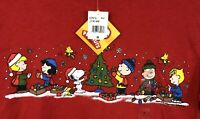 Peanuts Snoopy Christmas Tree Shirt tee small women new Charlie Brown Lucy C2