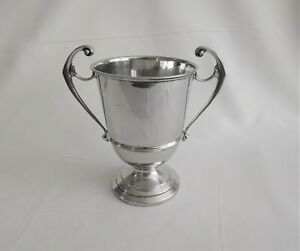 Antique sterling silver large trophy cup c 1930 London United Kingdom.