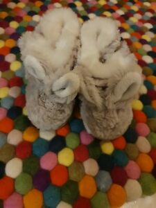 Little White Company Rabbit Booties 6-12 Months