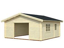 Garage Roger 17 Blockhaus Holzhaus Gartenhaus 560 x 560 cm 70 mm ohne Holztor