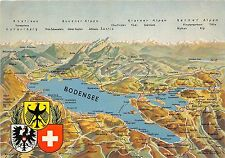 BR3166 Bodensee Panorama map cartes geographiques  germany