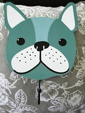 "Wooden hanger ""French bulldog"""" with hook leash holder Key Holder Frenchie Dog"