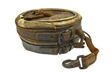 Antique Leather worn on the belt Firemen's Rescue Rope Pouch, Belgian.
