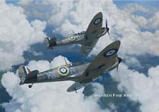 Supermarine Spitfire Aircraft Airplane Plane Birthday Fathers Day Blank Card