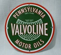 VINTAGE VALVOLINE PORCELAIN SIGN GAS MOTOR SERVICE STATION PUMP OIL RARE AD