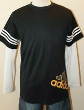 Adidas Long Sleeve Dri Fit Shirt Men Made In Canada Junior XL