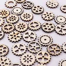 Mixed Wheel Gear Wood Pattern Scrapbooking Hollow Craft Home Decoration 50 Pcs
