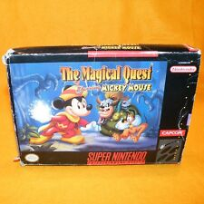 SUPER NINTENDO ENTERTAINMENT SYSTEM SNES THE MAGICAL QUEST STARRING MICKEY MOUSE