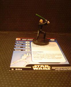 Star Wars Miniatures Luke Skywalker Jedi Knight Rebel Storm Card mini RPG 09/60
