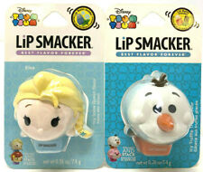 (2) Lip Smacker Disney Tsum Tsum Lip Balms New & Sealed ELSA & OLAF