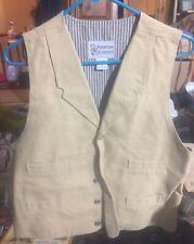 (Nwt) Frontier Classics Old West Cowboy Clothing Reenactment Vest Canvas Size L
