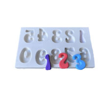 3D Number Design Silicone Chocolate Mould Cake Fondant Candy Cookie Mold DIY New