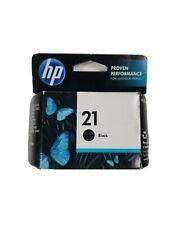 Genuine HP 21 #C9351AN Black Inkjet Cartridge - NEW & FACTORY SEALED - 2016