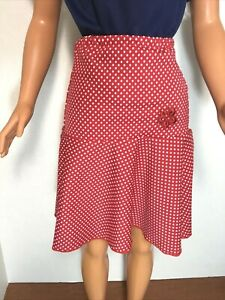 """Red with White Dots Circle Skirt with Yoke fits MY SIZE BARBIE Doll 36"""" - 38''"""