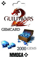 Guild Wars 2 II - 2000 Gems Digital Código - GW2 2000 Gemas - PC Versión - ES