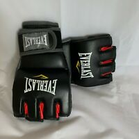 Everlast MMA Grappling~Training~Heavybag work Gloves BLACK/RED 7772LXL Pre-Owned