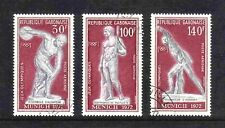 Gabon 1972 Olympic Games, Munich, complete set of 3 values (SG 455-457) used
