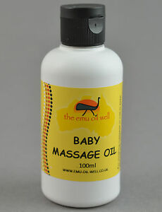 Natural Baby Massage Oil With Emu Oil Gentle Soothing Improves Baby's Skin 100ml