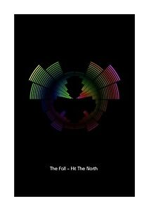 The Fall – Hit The North - Sound Wave Vector Art Print - A4 Size