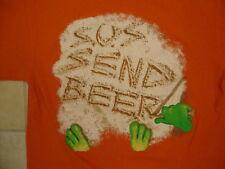 "Senor Frogs Nassau Bahamas ""SOS Send Beer"" Funny Souvenir Orange T Shirt M"