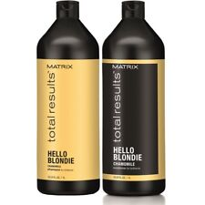 MATRIX  Total Results HELLO BLONDIE SHAMPOO And CONDITIONER  1000ml