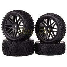 4x 1/10 HSP Off-Road Buggy Front Rear Wheel Rims Tyres,Tires Sponge 66015-66035