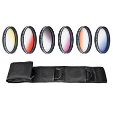 Camera Filters - 55mm - Graduated Color Multicoated 6pcs Filter Set with pouch