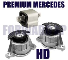 HD - Engine & Trans Mount 3PCS Set for 08-13 Benz W204 W212 C E Class Hydraulic