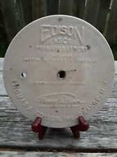 Vintage Antique Edison Bsco Primary Battery Stoneware Round Cap Lid
