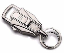 Transformer Style USB Re-Charger Metal Key Chain Cigarette Lighter Silver Color