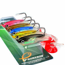 5pcs Soft Bait Fishing Lures 10cm Bass Bait 14.8g Fishing Tackle Soft Jig Hook