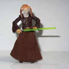 STAR WARS Jedi Master Toy Figure SAESEE TIIN with GREEN LIGHTSABER