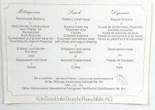 Vintage Table Top Menu Wine Food Koln-Dusseldorfer Deutsche Rheinschiffahrt AG
