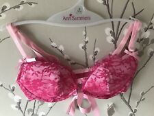 ANN SUMMERS BRA. Front Fastening PINK BONED LACE 34A/B 8  Brand New & Immaculate