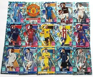 Match Attax UCL Crystal Foil Parallel Cards 21/22 2021/22 - Choose From Many -