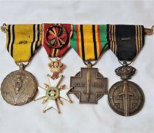 WW2 ERA BELGIUM MILITARY OFFICER MEDAL BAR PRISONER OF WAR