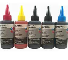 Bulk Universal 5x100ml refill ink for HP Canon Epson Brother Lexmark Dell Print