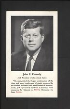 1966 Baltimore Orioles Clement Prucha Pocket Schedule John F Kennedy President