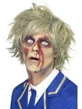 Grey Zombie Wig Adult Mens Smiffys Halloween Fancy Dress Costume
