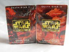 Star Wars Ccg Death Star II Paire de Léger et Foncé Côté Scellé Démarrage Jeux