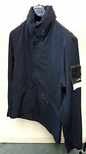 Stone Island Water Repellent Wool Ghost Jacket In Navy