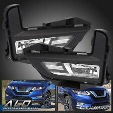 Pair Front Fog Lights Driving Lamps w/ Bezel For 2017-2018 Nissan Rogue S Sl Sv
