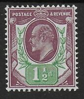 SG287. 1&1/2d.Reddish Purple & Bright Green.  Fine LMM.  Cat.£45 Thus.  Ref.0840