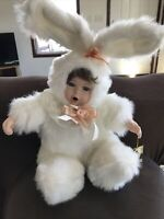 Geppeddo Cuddle Kids Deluxe BLOSSOM BUNNY Doll Porcelain Face Plush Animal 22""