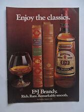 1978 Print Ad E&J Brandy ~ Enjoy the Classics Odyssey, War and Peace