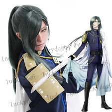 Touken Ranbu Nikkari Aoe Green Online Anime Cosplay Hair Wig Synthetic Wigs NEW